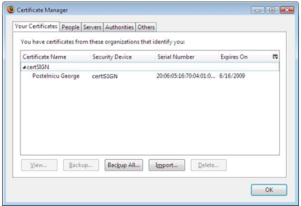 Aladdin | Installing the certificate in Mozilla Firefox